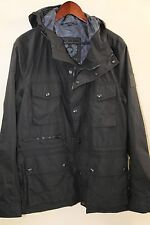 #48 Belstaff Trailmaster Waxed Cotton Hooded Field Jacket Size 42