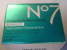 Boots No7 Protect & Perfect Intense ADVANCE Night Cream 50ml 1.69oz