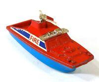 Corgi Juniors Fire Launch Boat Ship Gt Britain Vintage Toy Car Diecast M059