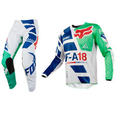 Fox Racing 180 Motocross MX Kit Pantaloni Maglia - Sayak Verde