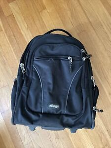 EBAGS MOTHER LODE ROLLING TRAVEL WHEELED CARRY-ON BACKPACK BLACK