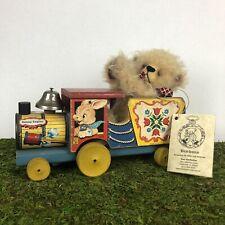 Bearlooms Handmade Mohair Teddy Bear w/ Fisher Price Bunny Engine Sue VanNattan