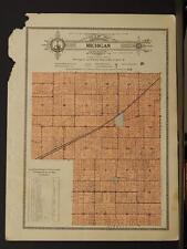 Indiana Clinton County Map Michigan Township  1919  Y8#73