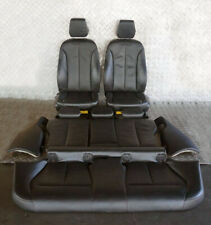 BMW 3 Series F30 Heated Black Leather Interior Seats with Airbag and Door Cards