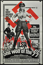 ILSA SHE WOLF OF THE SS 1975 ORIGINAL NM 27X41  MOVIE POSTER DYANNE THORNE NAZI