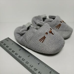 Infant 6-12 Month Baby Knit Slippers Toddler Crib Baby Shoes Boy Girl Mouse Gray