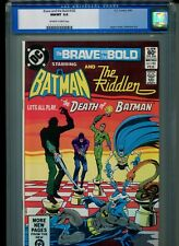 Brave and the Bold #183 CGC 9.8 (1982) Batman Riddler