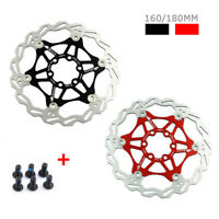 SNAIL 6 Bolts Disc Brake Rotors Stainless Steel Floating Mountain Bike 160/180mm