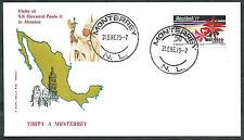 1979 VATICANO VIAGGI DEL PAPA MESSICO MONTERREY - RM1