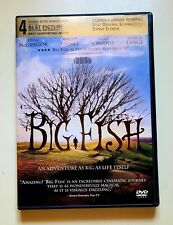 Big Fish Dvd Ewan McGregor Albert Finney Jessica Lange Drama Fantasy Free Shipp.
