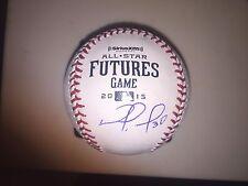 Nomar Mazara and Orlando Arcia Autographed Signed 2015 Futures BASEBALL Proof