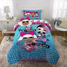 Kids Bedding Comforter Set w/ Sheets & Plush Cuddle Pillow Twin Lol Surprise!
