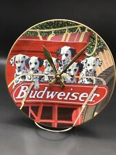 Budweiser Dalmatian Collector Plate Made Into A Clock !