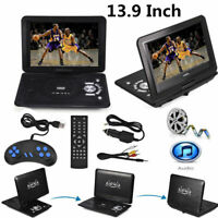 Portable 13.9inch HD DVD Player 16:9 LCD Screen with Gamepad 270°Swivel Screen
