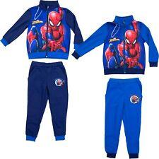 spiderman marvel tuta 2 pezzi felpa con cerniera+pantalone 100%poliestere bimbo