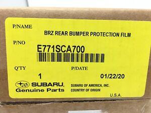 2013-2020 Subaru BRZ Rear Bumper Applique Clear E771SCA700 OEM Genuine Oem