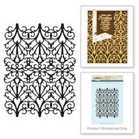 SPELLBINDERS 3D Shading Cling Stamp FRETWORK STAMP SBS-090 Approx 4.00 x 5.00 in