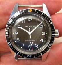 Vintage BELFORTE Automatic SKIN DIVER 2452 ETA Wrist Watch Clean ALL STAINLESS