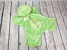 Baby Gund Green Frog Security Blanket Polka Dots Lovey Satin Plush Soft