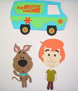 Scooby Doo Shaggy Mystery Machine Die Cut Paper Piecing Scrapbook Embellishment