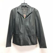 Jones of New York Mens Genuine Leather Jacket Size M Bomber Style