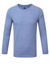 Vêtements bleus à manches longues sans motif pour garçon de 2 à 16 ans
