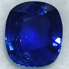Natural 3.55 Carat Blue Sapphire Cushion Genuine Loose Gemstone 9.75x8.35mm