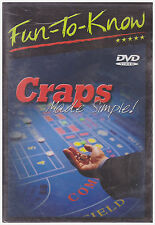 FUN TO KNOW CRAPS MADE SIMPLE (DVD, 2005) NEW