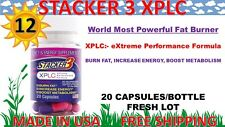 Stacker 3 XPLC 20ct 12 Bottles 240 Capsules Weight Loss & Energy Dietary 08/2022