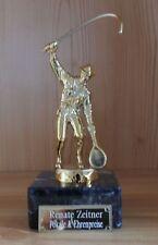 1 Angeln Figur aus Metall mit Gravur Made in Germany (Pokal Pokale  Angler)