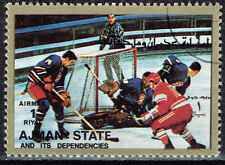 Ajman Sport Soviet Hockey Team Winning Sapporo Olympics stamp 1972