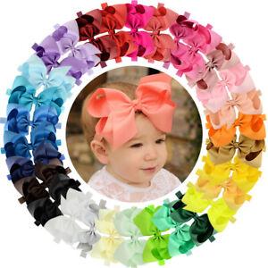 Big 30pcs 6in Hair Bows Grosgrain Ribbon Headbands for Baby Girls Infant Toddler