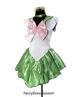 Sailor Jupiter Costume Cosplay Sailor Moon Fancy Dress S-XXL UK 8/10/12/14/16