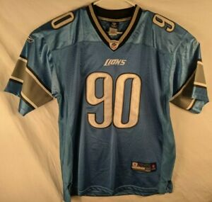 Reebok Detroit Lions Ndamukong Suh Stitched Numbers Football Jersey Mens Size 50
