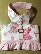 Breast Cancer Awareness Handmade Dog Harnesses 2163 Size S