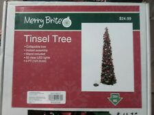 Merry Brite ® Christmas 4-Foot Tinsel Tree