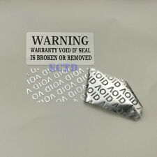 100 Labels 1.5'' x 0.79'' WARNING WARRANTY VOID Tamper Proof Seal Stickers