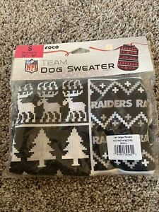 Foco Las Vegas Raiders Dog Sweater Size Small