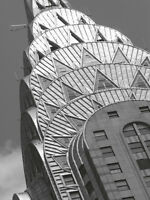 CHRYSLER BUILDING ART PRINT - Chrysler Detail by Chris Bliss ART POSTER 19x13