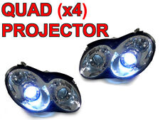 DEPO Quad Projector Chrome Xenon HID Headlight For 03-09 Mercedes W209 CLK Class
