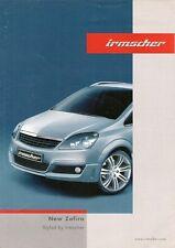 Vauxhall Zafira Irmscher Accessories 2005-06 UK Market Foldout Sales Brochure