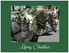 20 CHRISTMAS Horses CARRIAGE Parade Greeting  Post Cards PRINTED US OR CANADA