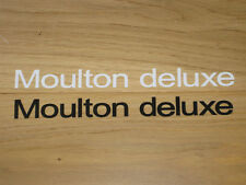 2 x Moulton Deluxe Stickers Decals bike Black White Vintage Cycling Frame Vinyl