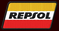 "REPSOL EMBROIDERED PATCH~4""x 2"" MOTORCYCLE OIL HONDA MOTO GP WORLD CHAMPIONSHIP"