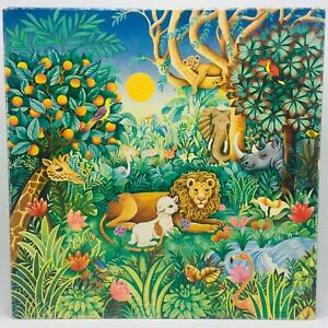 VINTAGE Springbok The Peaceable Kingdom 500 pcs Puzzle Christmas Lion & Lamb OOP
