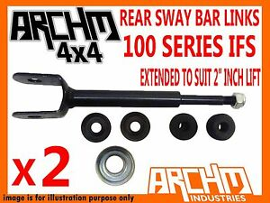 "EXTENDED SWAY BAR LINKS 2"" INCH LIFT FOR TOYOTA LANDCRUISER IFS 100 SERIES"