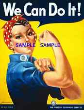 "WWII We Can Do It- Rosie Riveter  8.5"" x 11""  Poster"