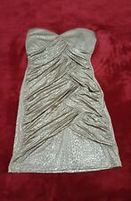 AS U WISH Gold Tube Bodycon Dress Formal Evening Prom Homecoming Party NEW
