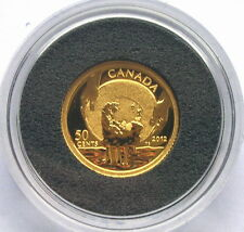 Canada 2012 Gold Rush 50 Cents Gold Coin,Proof