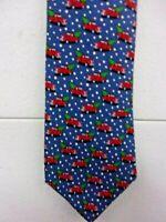 NWT Vineyard Vines 100% Silk Necktie Truck & Tree Christmas Tie  $85 Mens